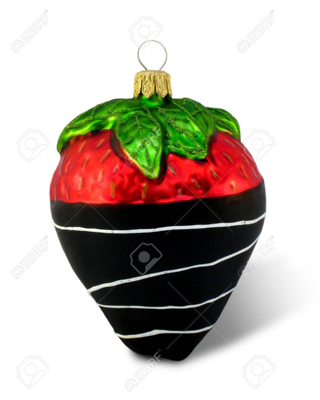Chocolate-Scheinwerfer Für Erdbeere Ornament Für Weihnachten; Makro ...