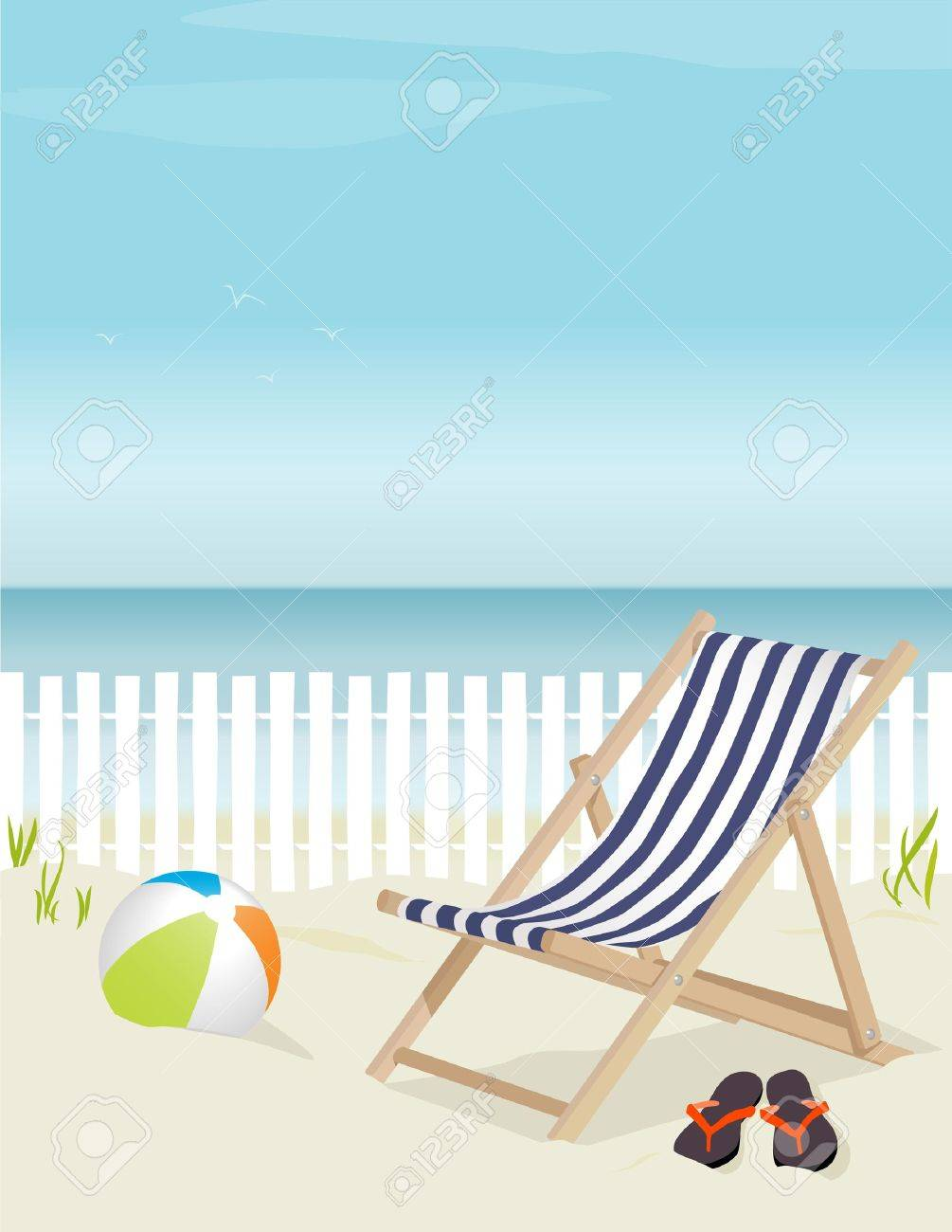 Flip Flop Chair Nice Deck Chair At The Beach Complete With Beach Ball And Flip