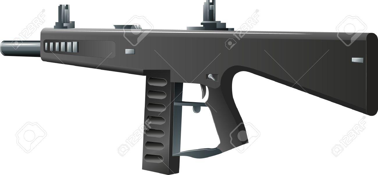 Vector - Vector illustration of automatic gun-AA-12 shotgun