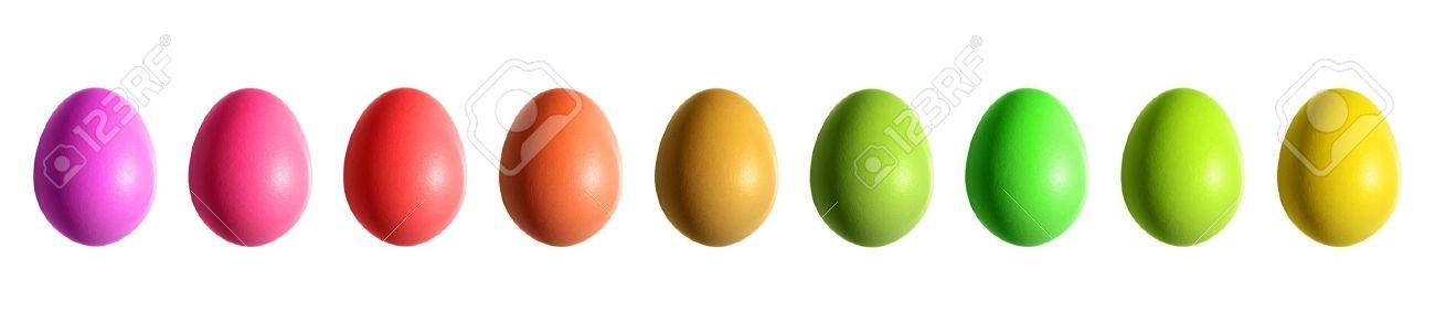 colorful easter eggs border Stock Photo - 11989754