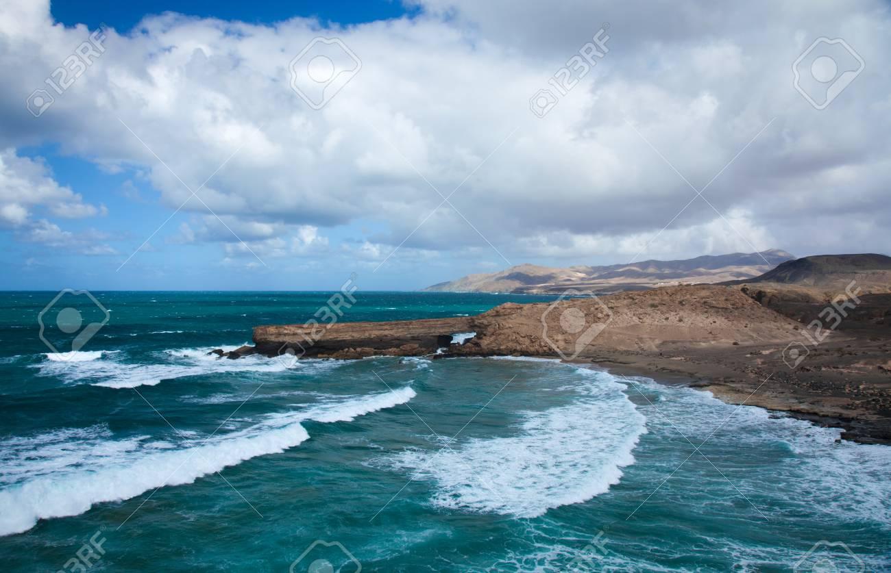 west coast of Fuerteventura, Canary Islands, at La Pared Stock Photo - 16703700