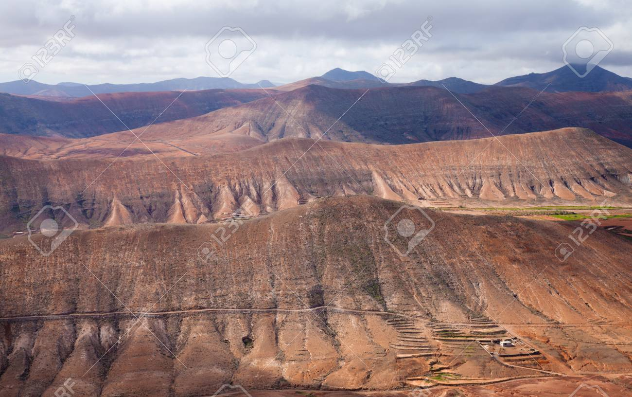 Inland Fuerteventura, view south from Montana de Ecanfraga Stock Photo - 17424214