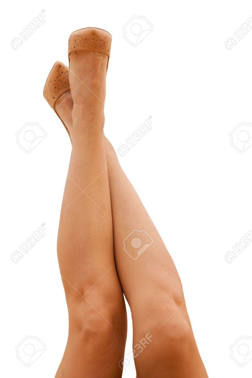 sporty female legs in tan shoes Stock Photo - 19723020