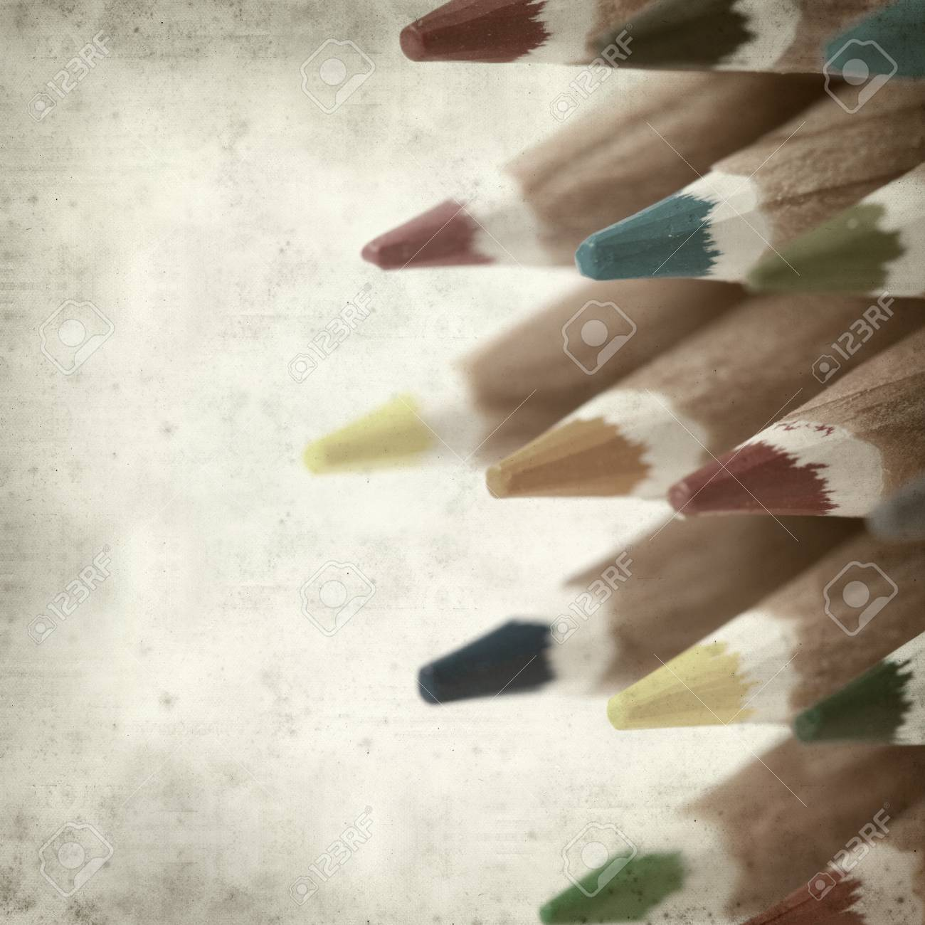 textured old paper background with color pencils Stock Photo - 25377042