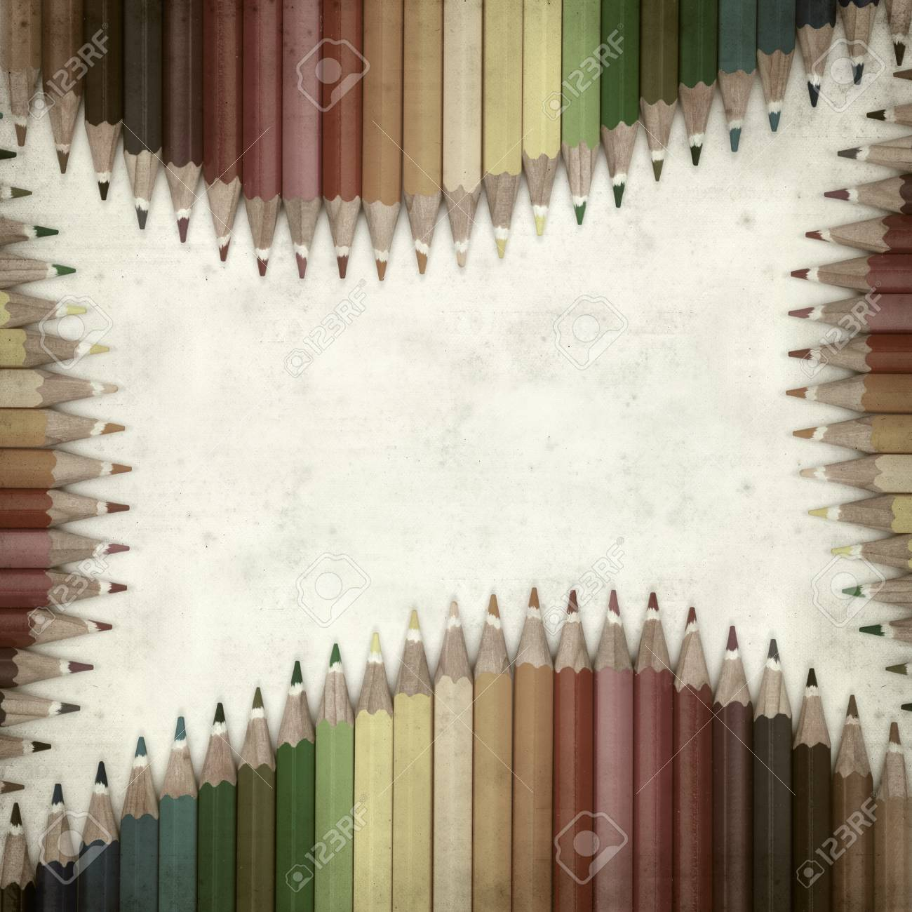 textured old paper background with color pencils Stock Photo - 25377030