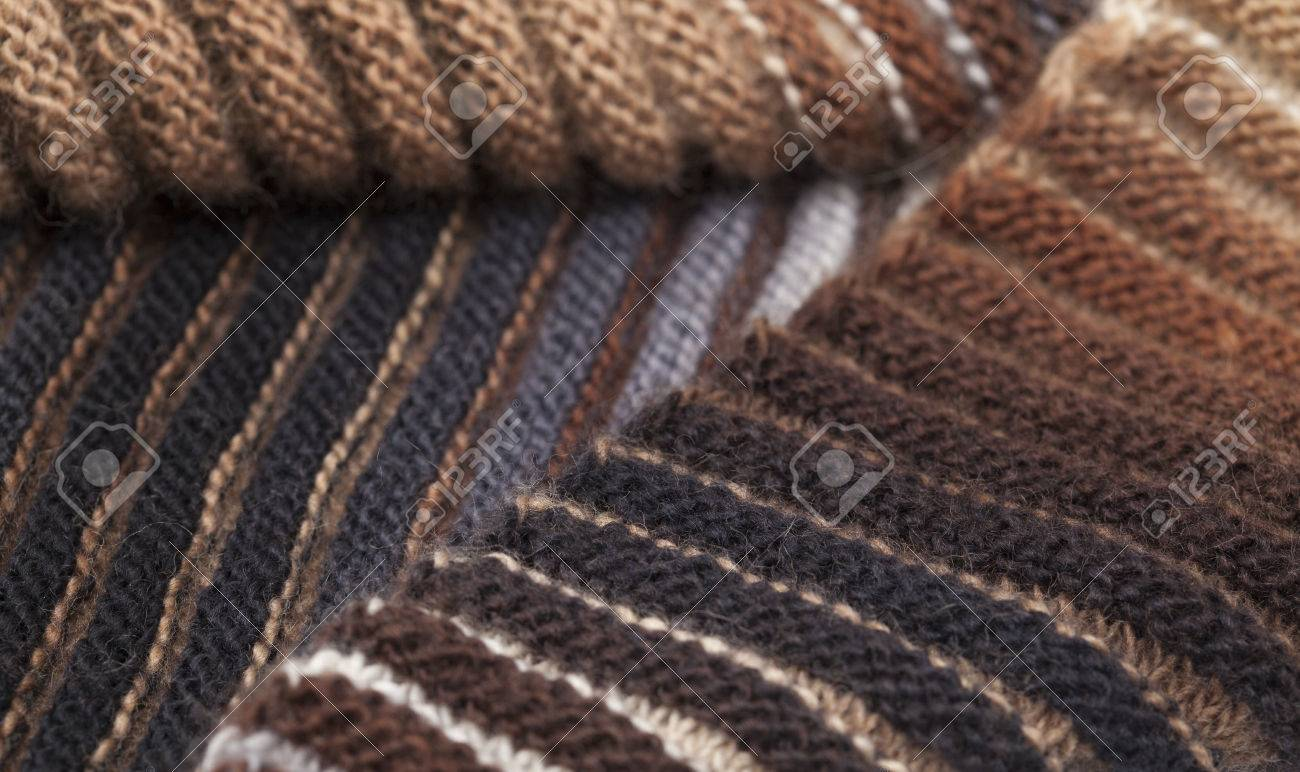 Knitting Ribbing With Two Colors : Two sided ribbed knitted scarf gradual color change craft