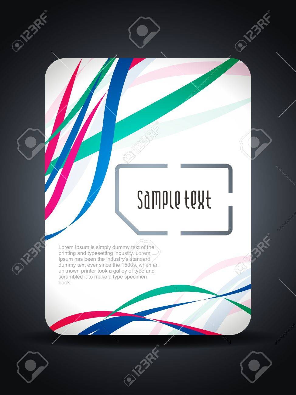 Creative sim card presentation design concept with colorful waves. Stock Vector - 16242991