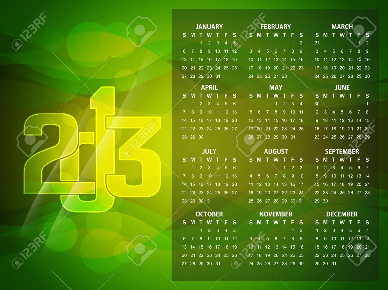 Beautiful calendar design for 2013 Stock Vector - 16505397