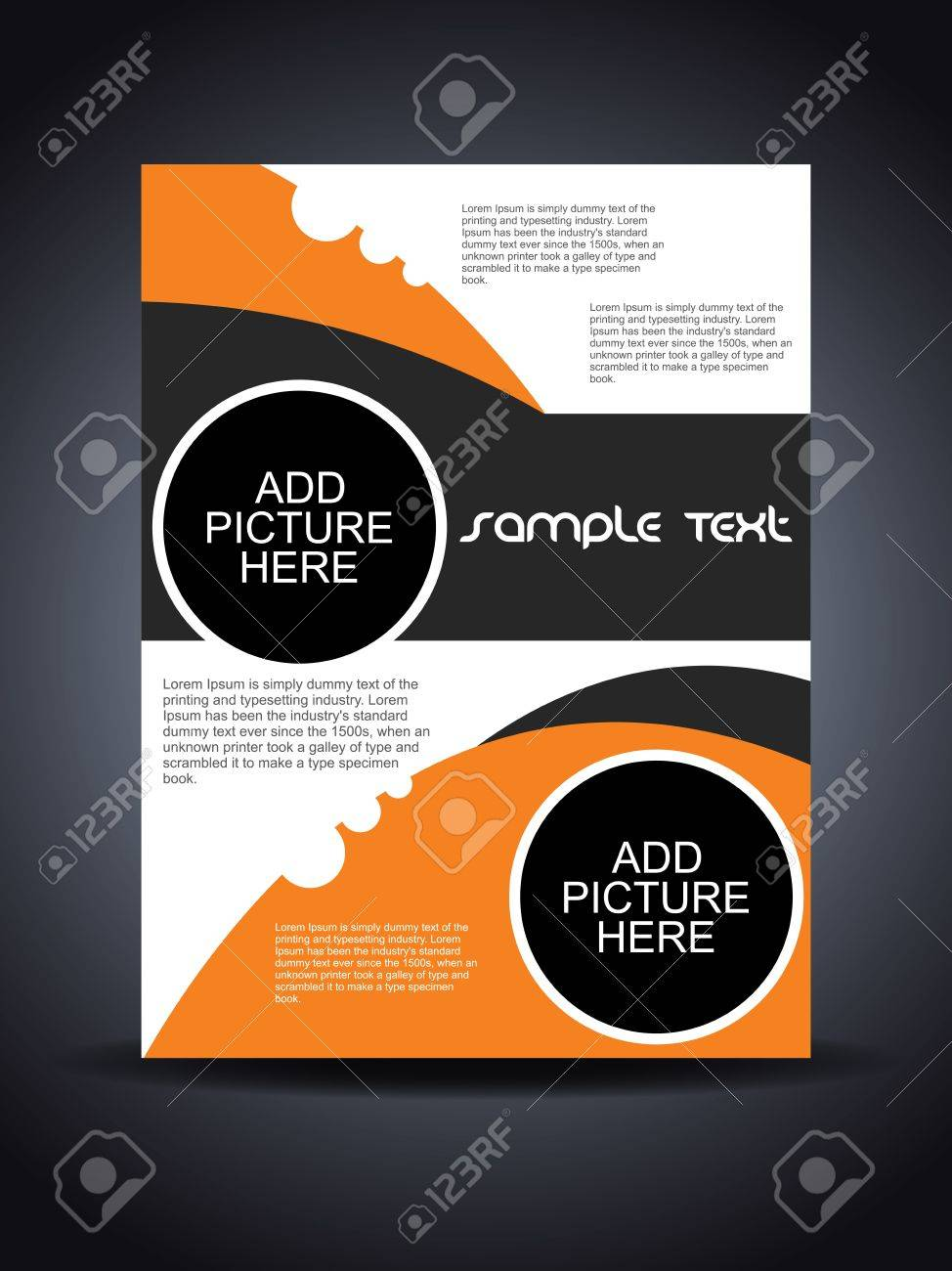 Presentation of creative flyer or cover design. Stock Vector - 16505427