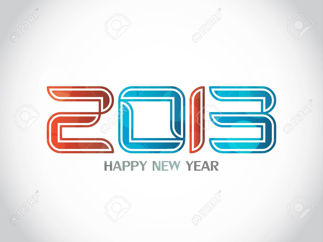 Beautiful happy new year 2013 background design Stock Vector - 17070869