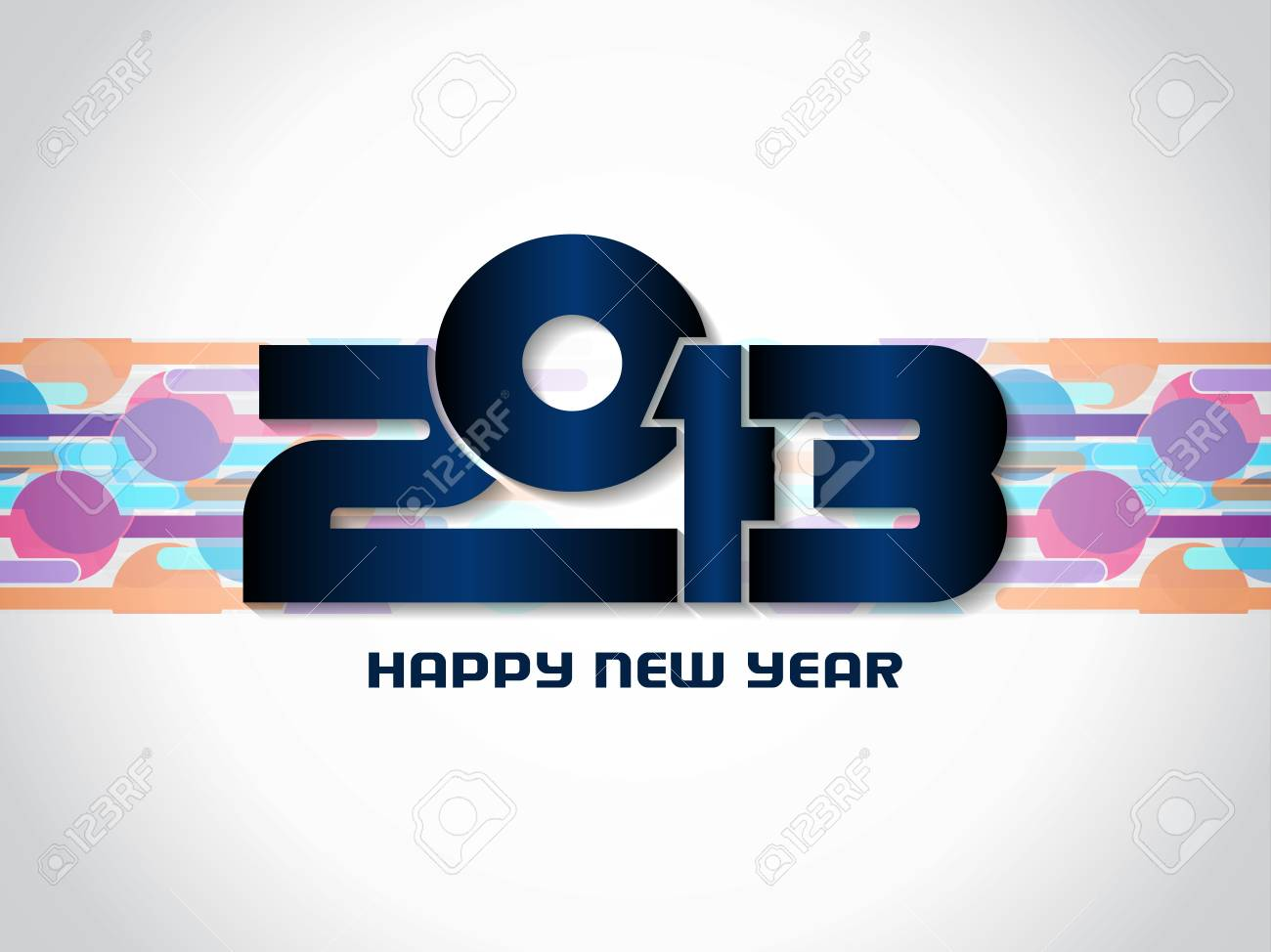 Beautiful happy new year 2013 background design Stock Vector - 17070870