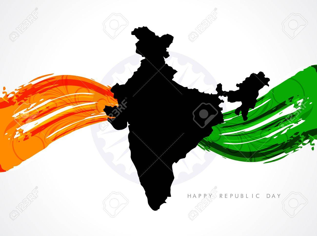 Beautiful Indian flag design Stock Vector - 17439831