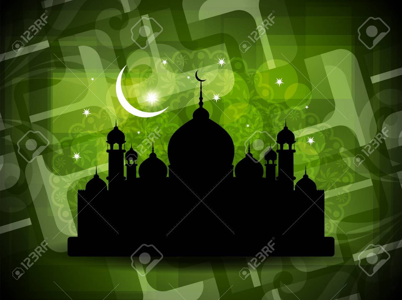 illustration of abstract beautiful eid background with mosque. Stock Vector - 17996078