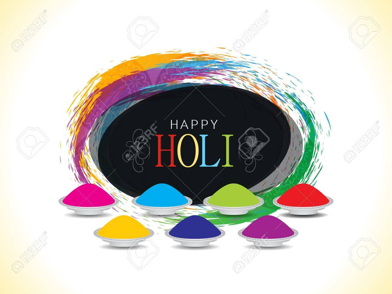 Colorful background design for Indian festival Holi Stock Vector - 18510960