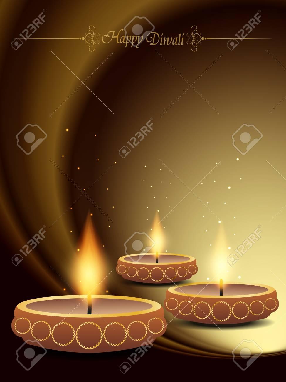 elegant background design for diwali festival Stock Vector - 20556631