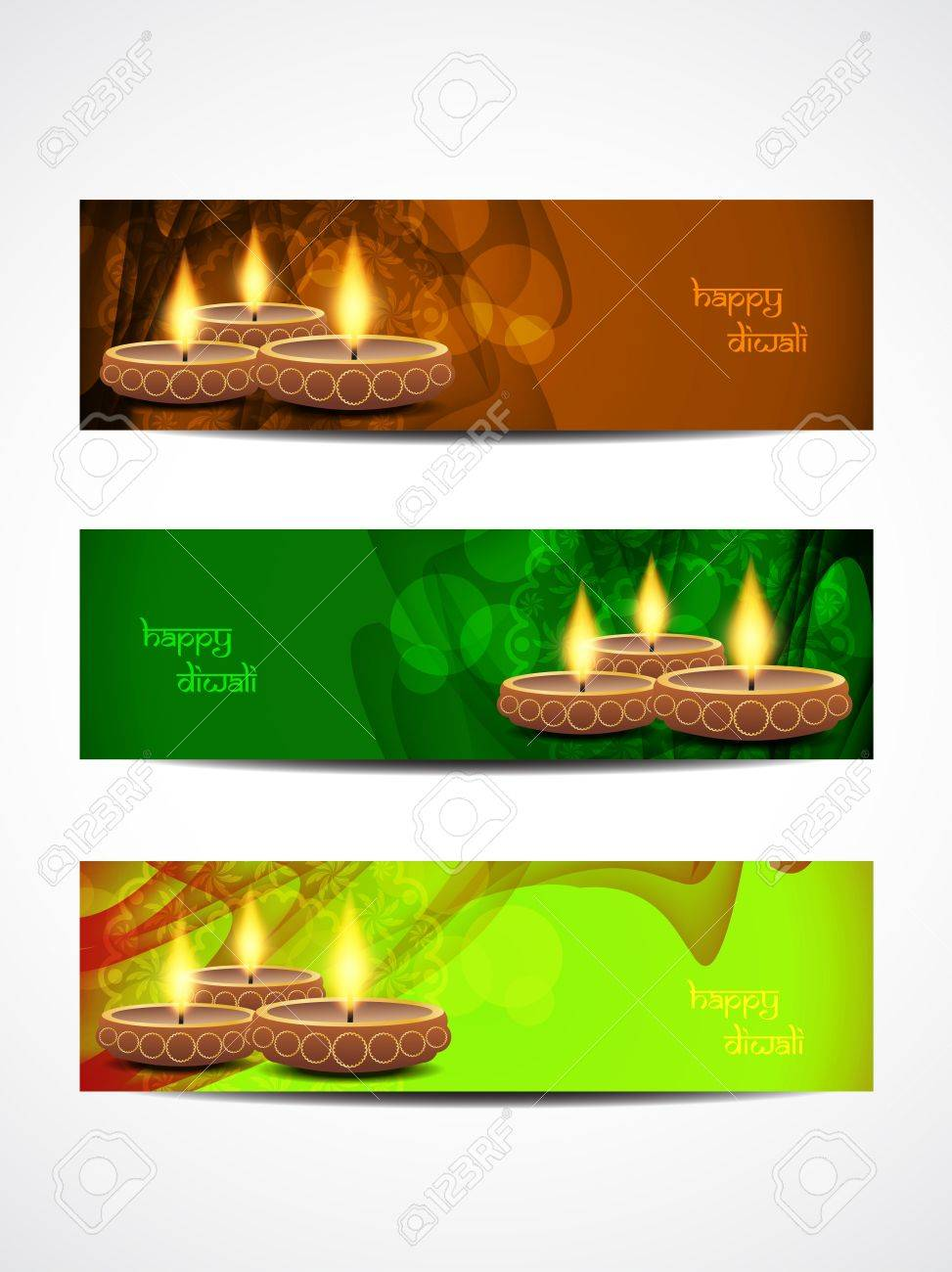 abstract vector web header banner designs for diwali Stock Vector - 21299281