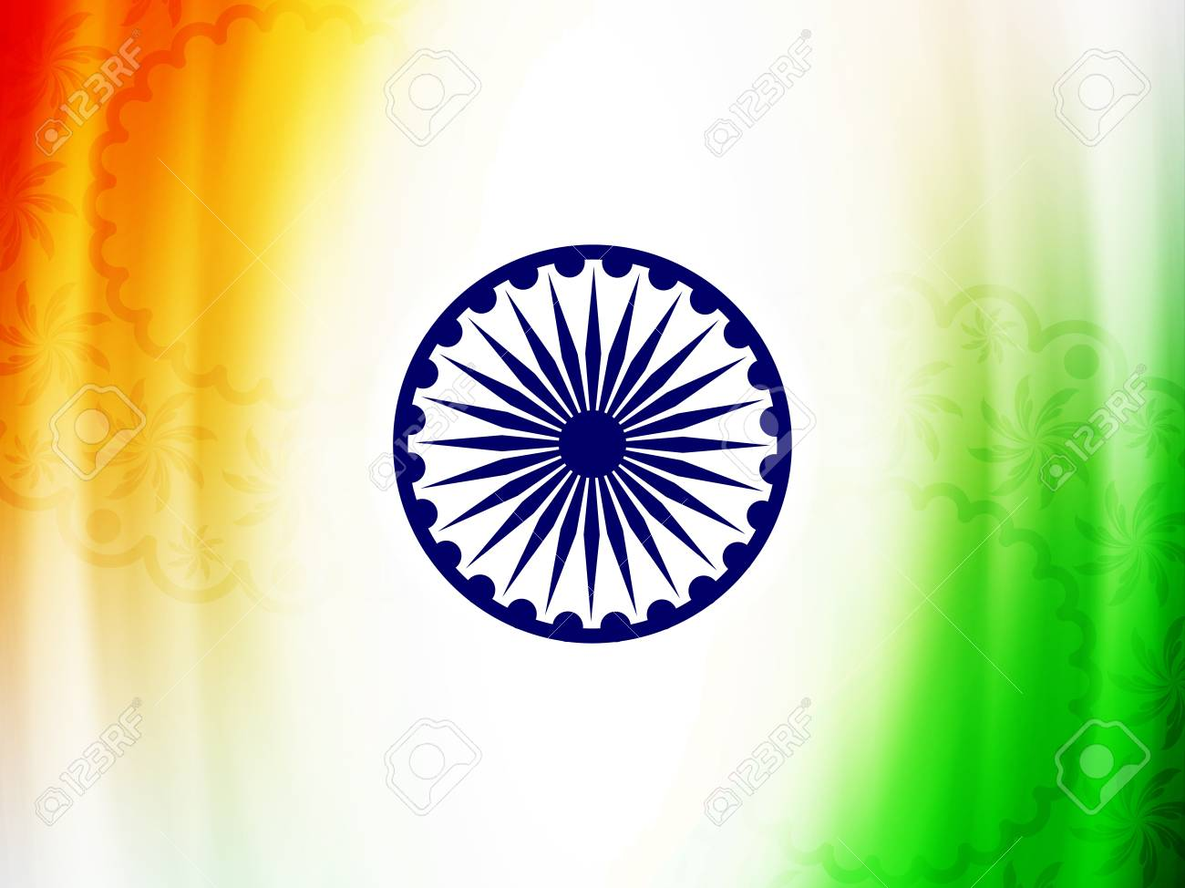 Beautiful Indian flag design Stock Vector - 21636152