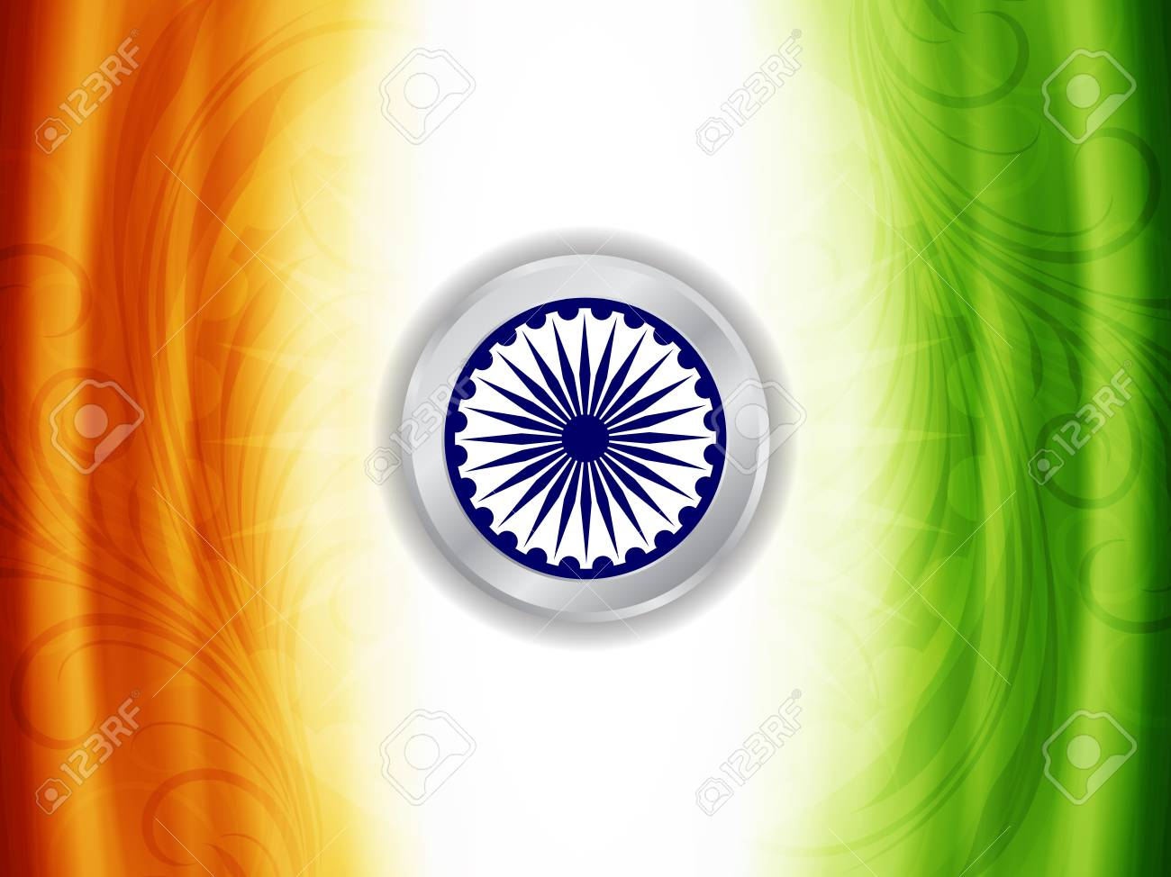 Beautiful Indian flag design Stock Vector - 21636153