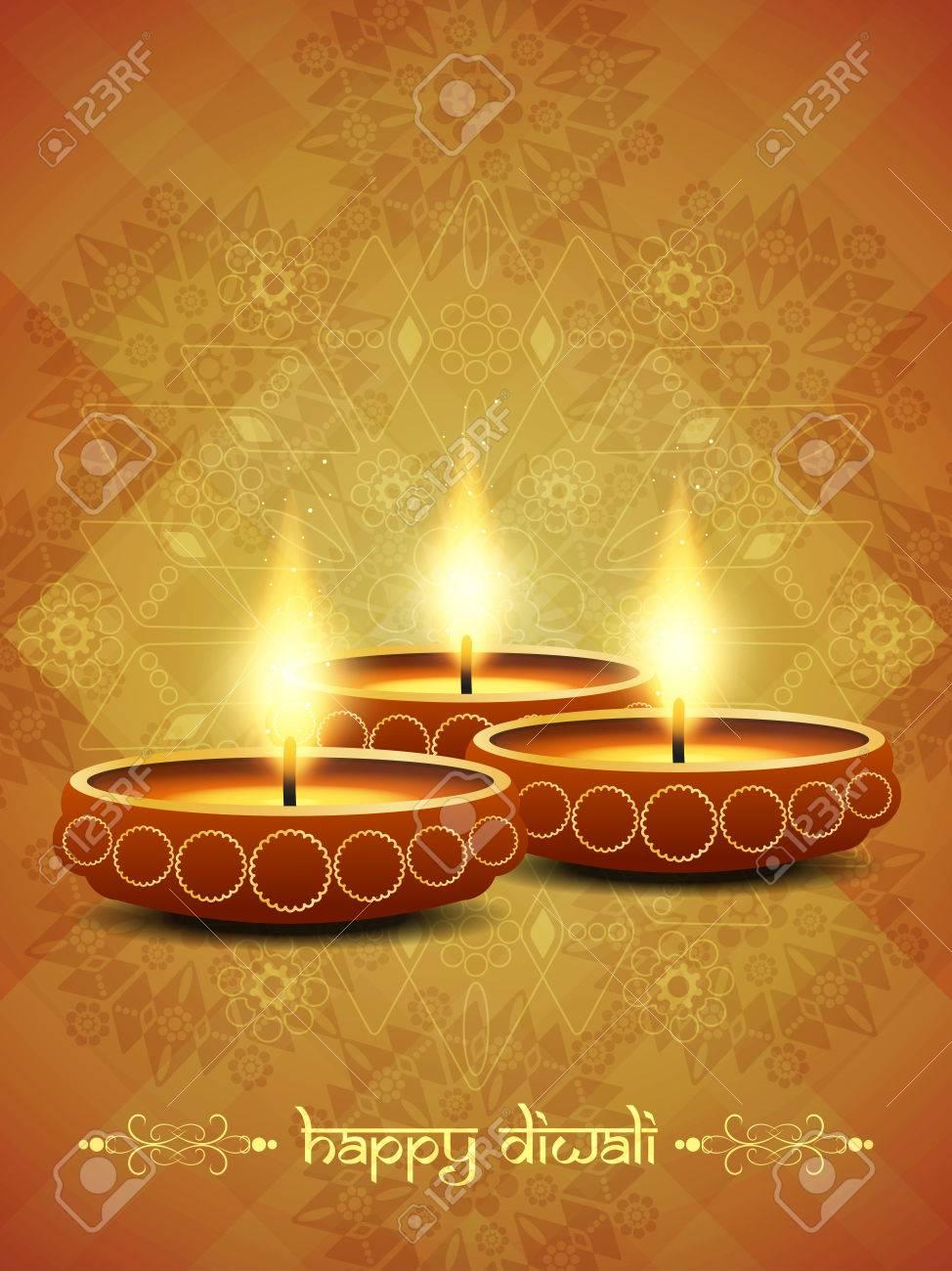religious background design for Diwali Stock Vector - 22962384