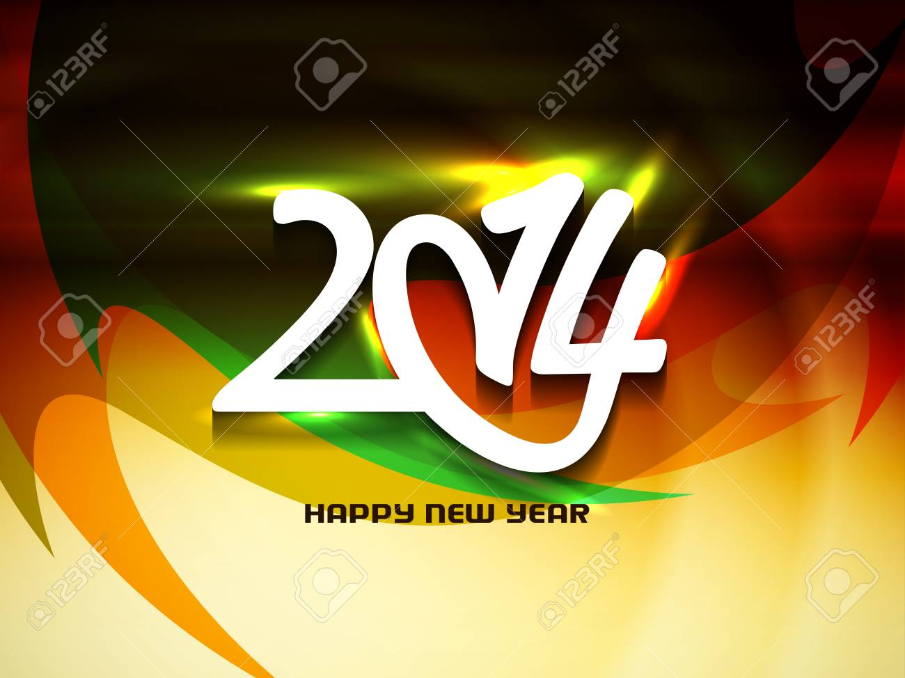 Elegant happy new year 2014 design Stock Vector - 24026817