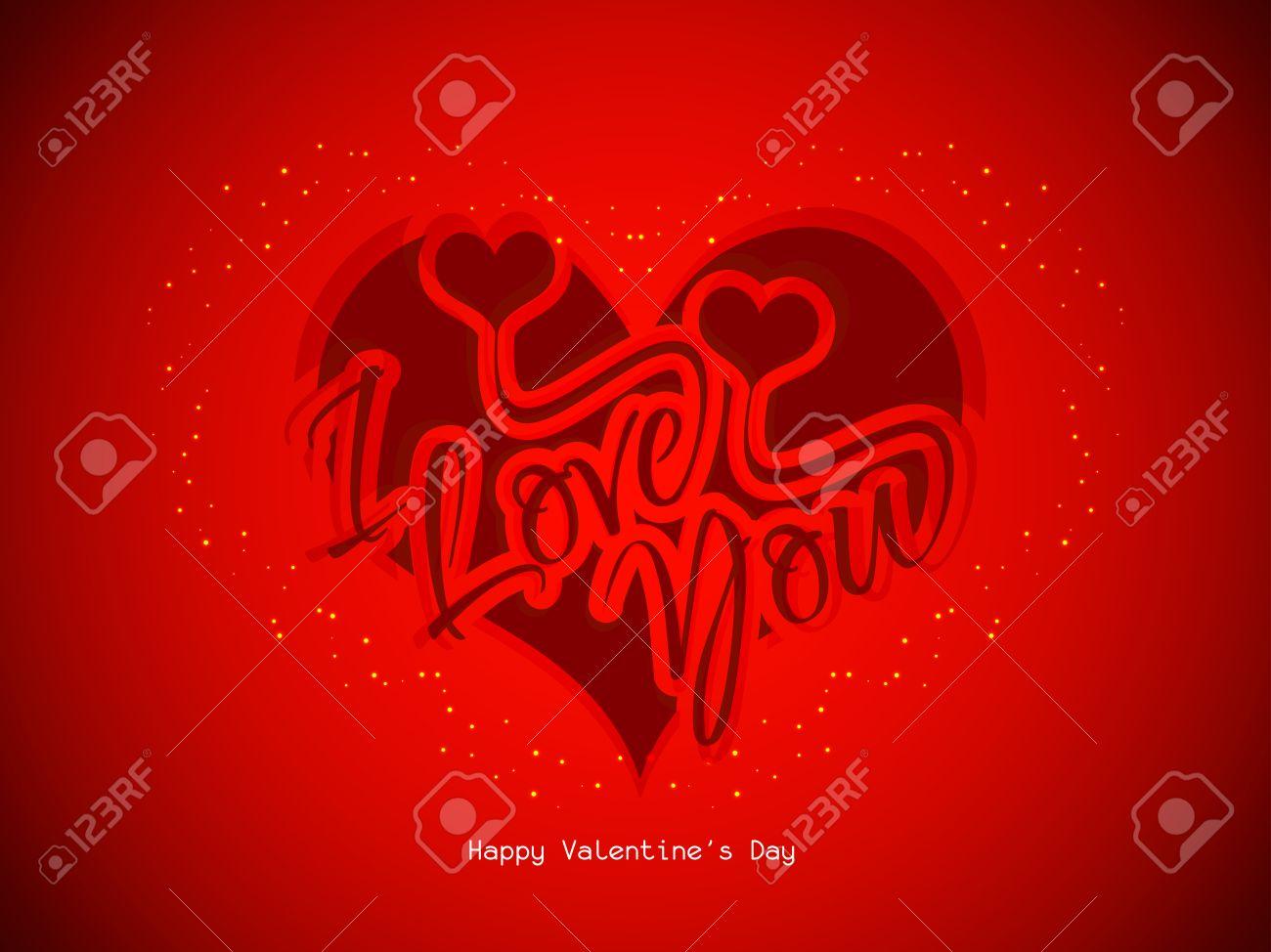 Schöne Ich Liebe Dich Hintergrund Mit Herzen Lizenzfrei Nutzbare ...