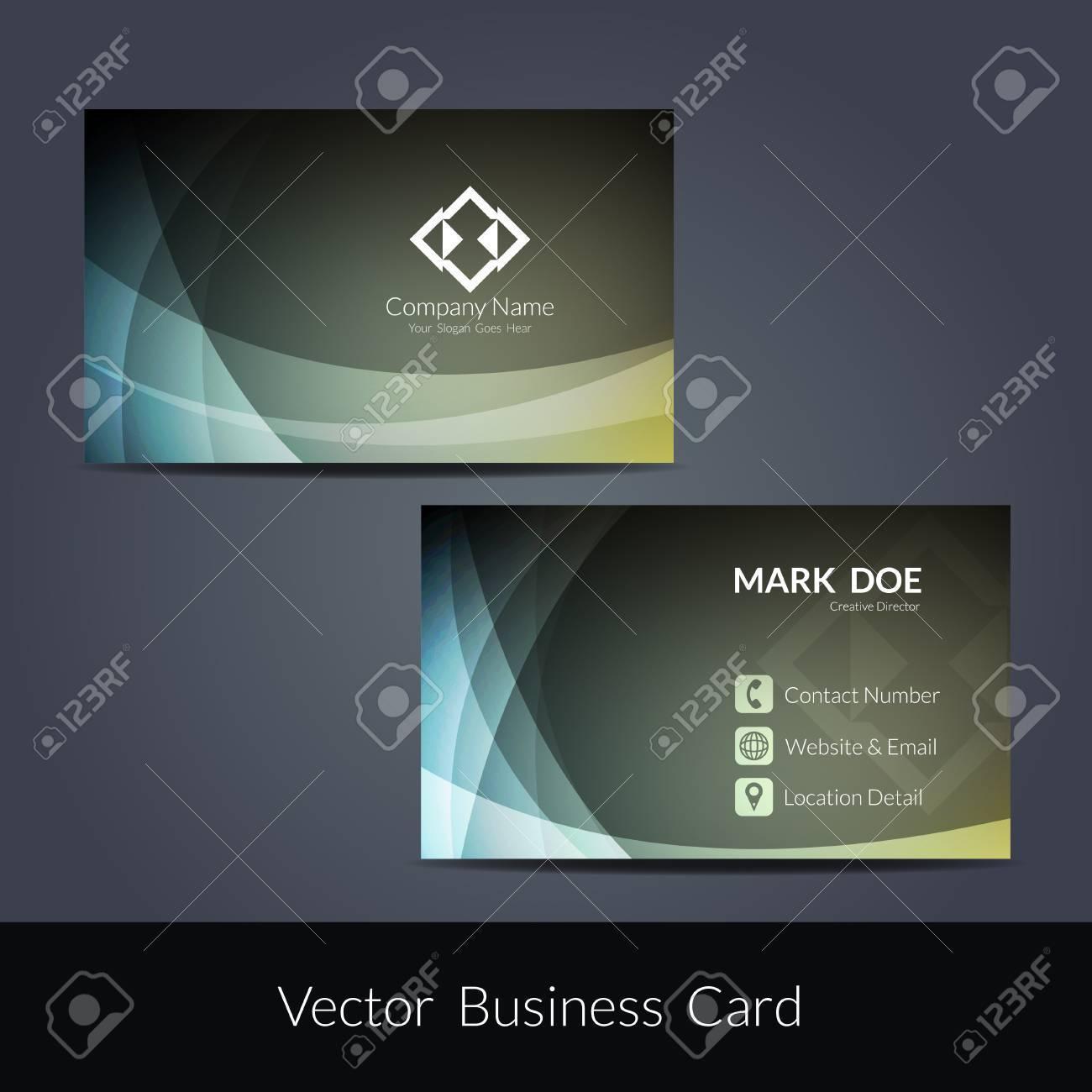 Presentation of visiting card design - 51326811