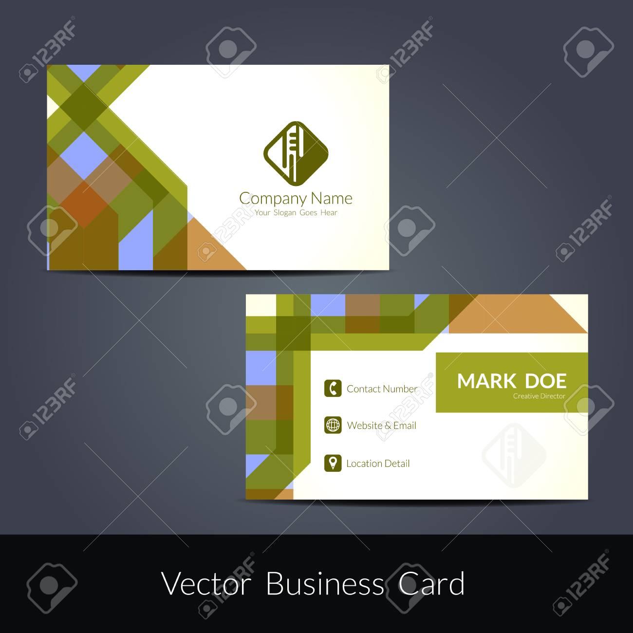 Presentation of visiting card design - 51326884