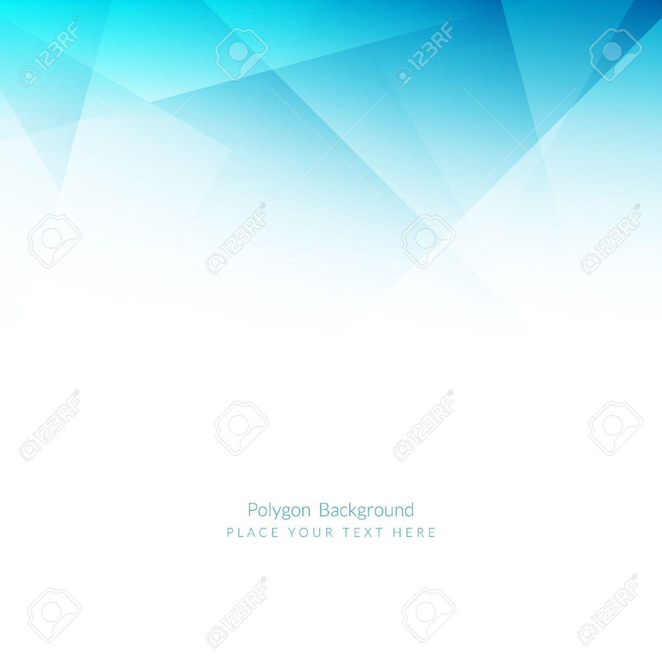 Light blue color polygonal shape background - 53197712