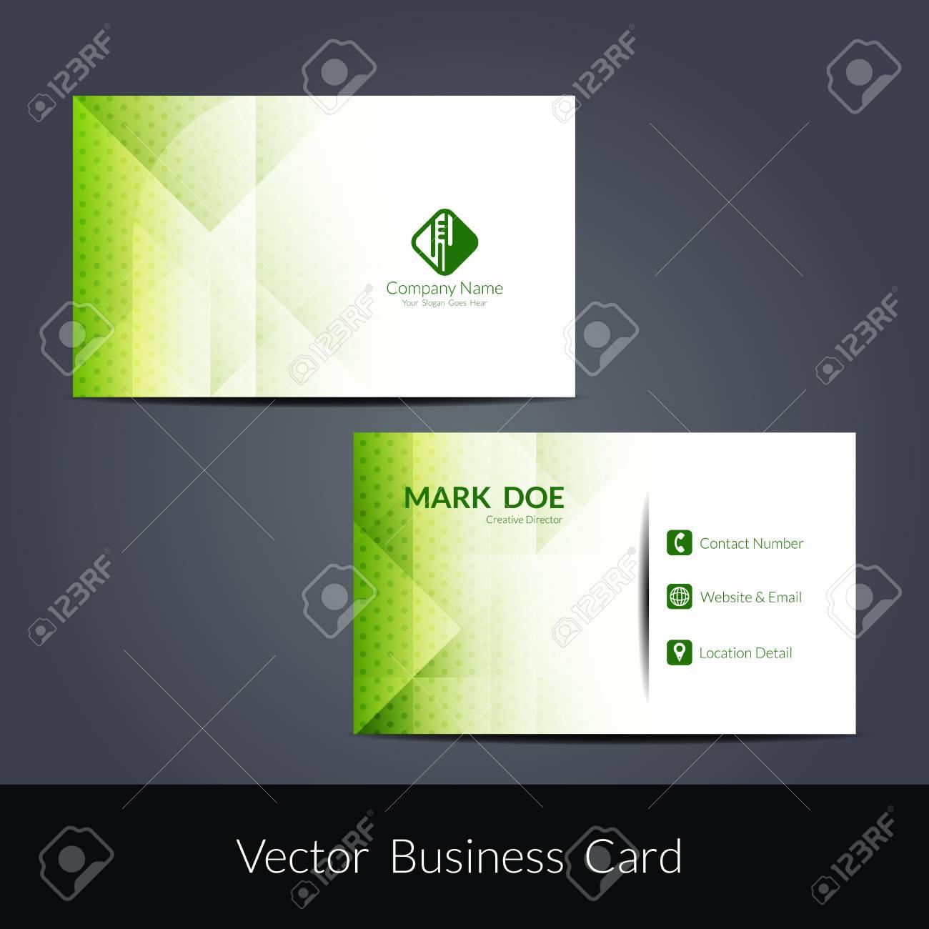 Presentation of visiting card design - 58916969