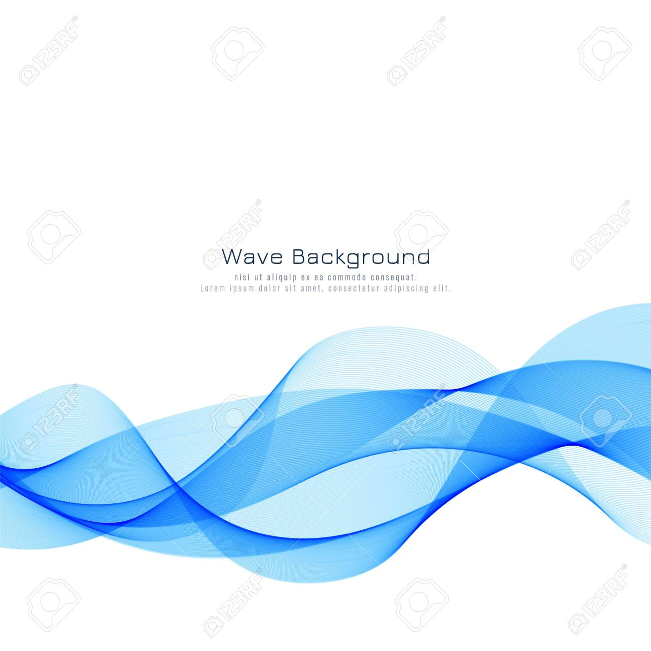 Abstract stylish blue wave background - 124326672