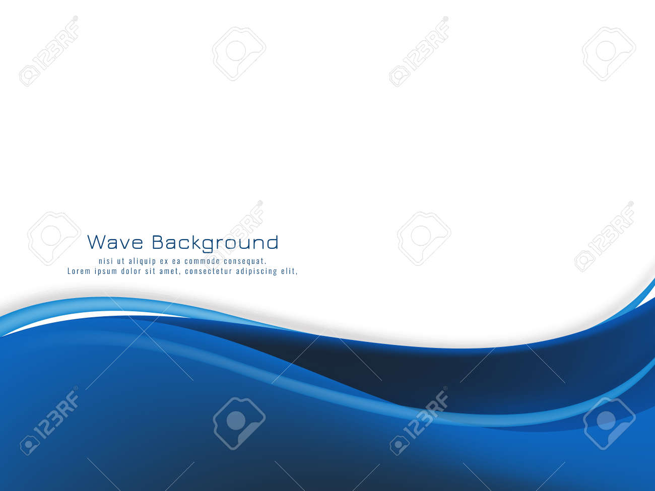 Modern blue wave design background vector - 154562160