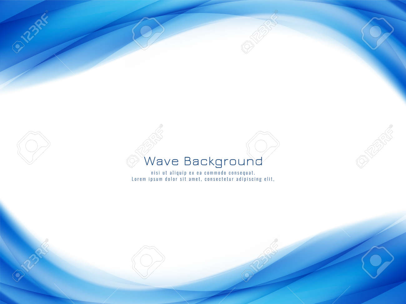Abstract stylish blue wave background vector - 156502202