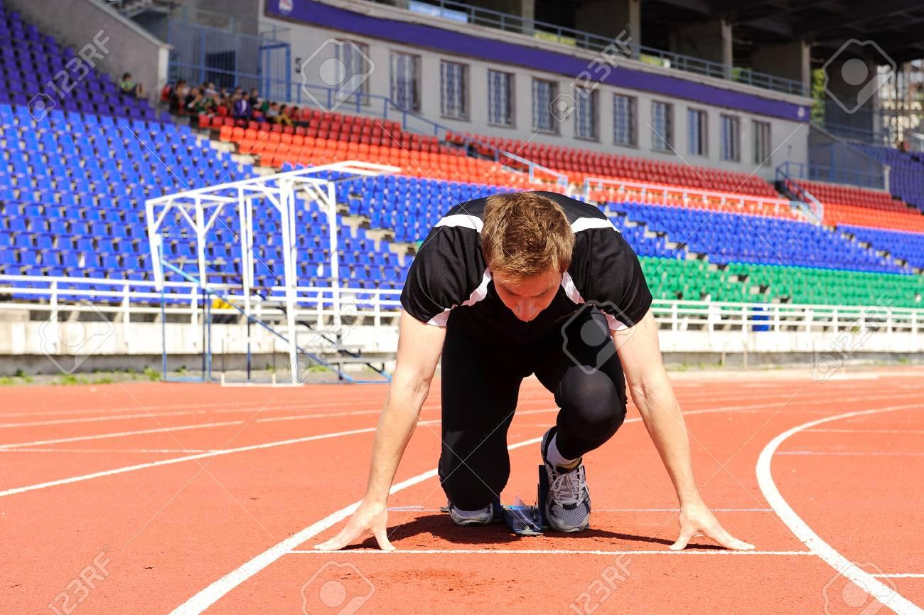 Athlete at the start Stock Photo - 18212091