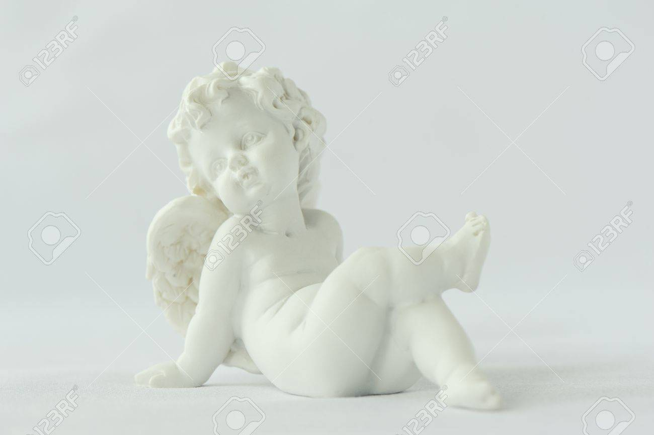 Statue of a winged angel on a white background Stock Photo - 19380637