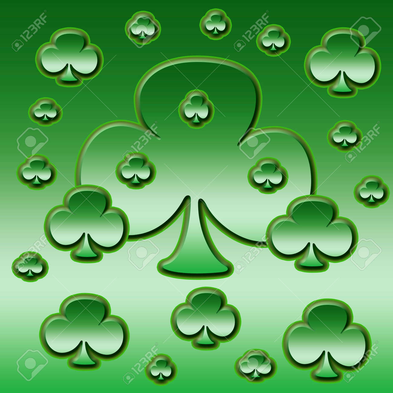 an illustration of a patch of clover Stock Photo - 781342