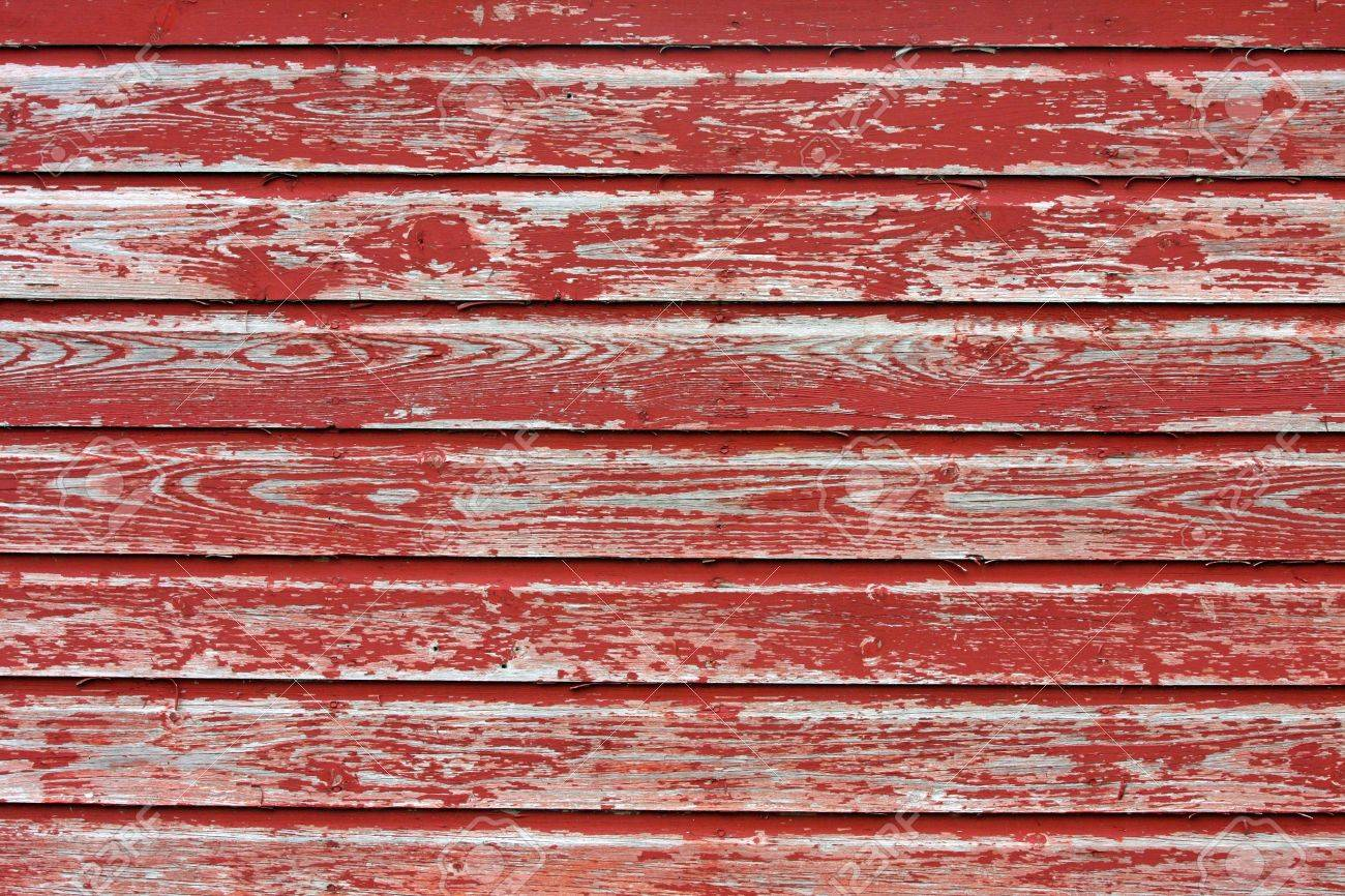 Red Barn Wood red weathered wooden barn siding. aged antique. stock photo