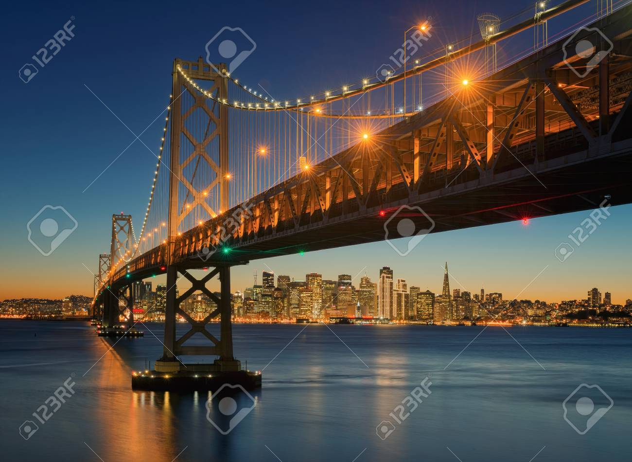The Bay Bridge, San Francisco, Californa, USA - 71449813
