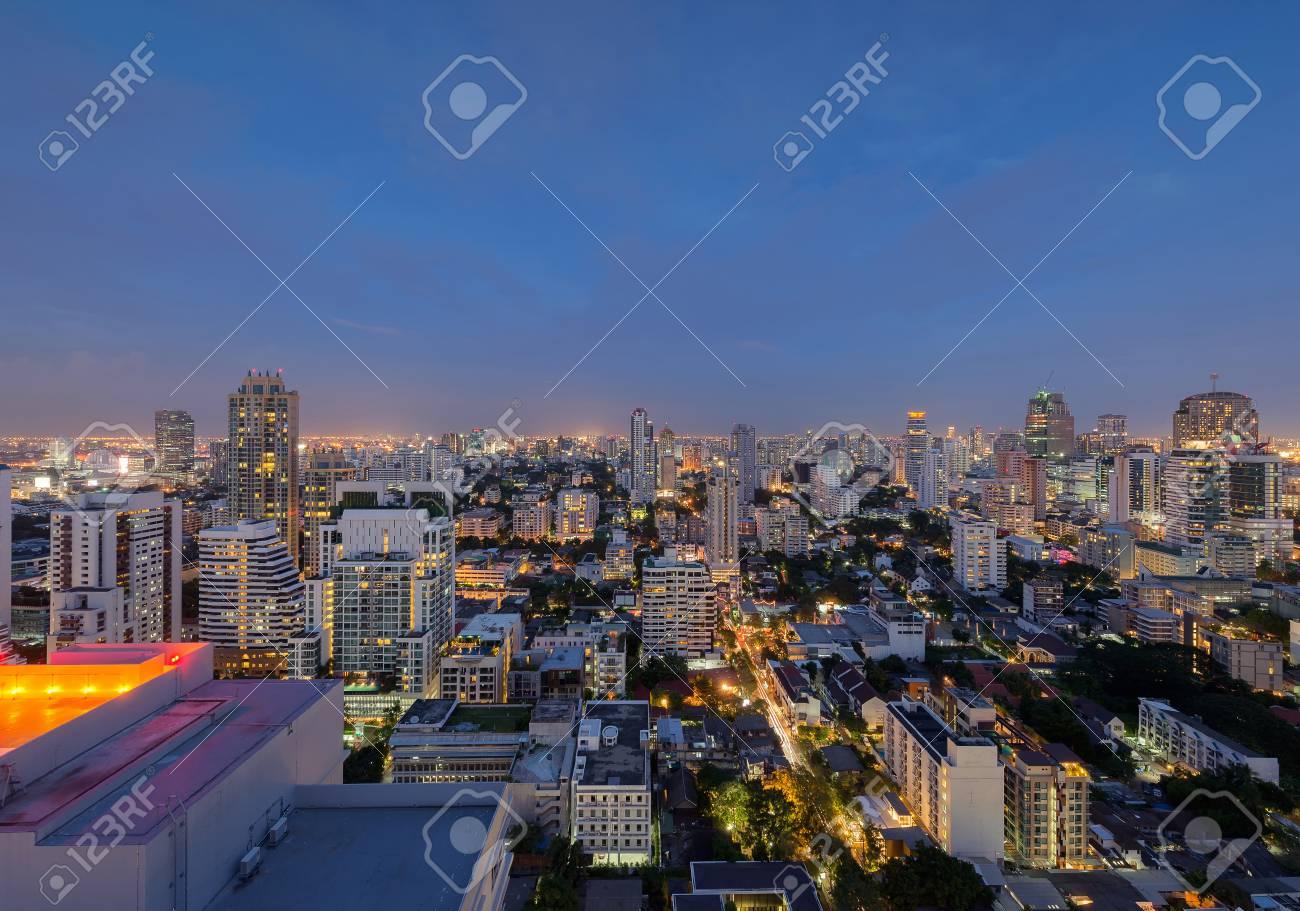 Bangkok City at night, Skyline, Thailand - 71450845