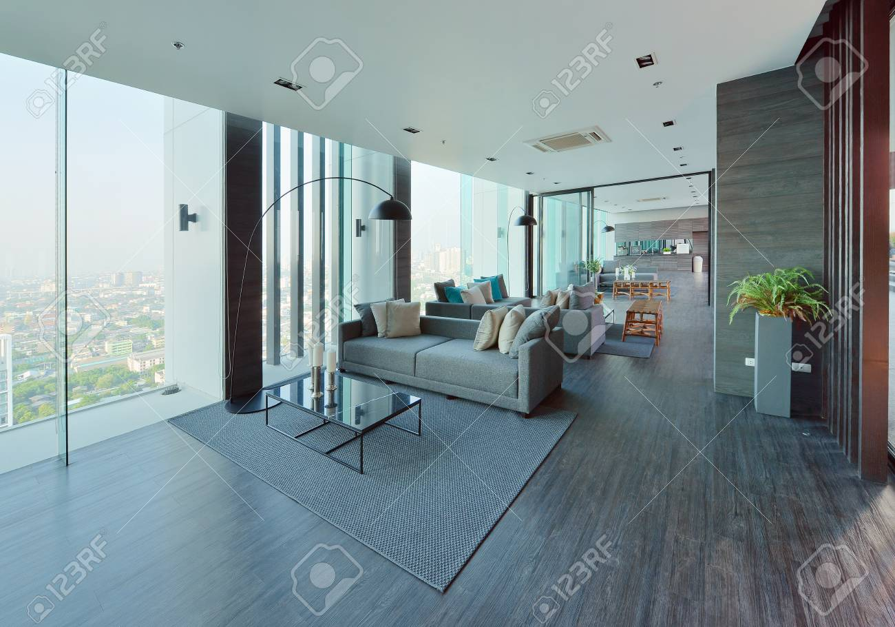 Intérieur et décoration de salon moderne de luxe, design d\'intérieur