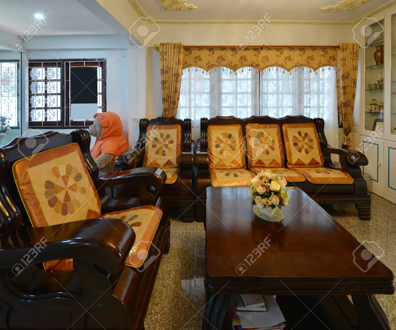 Elegant Oriental Classic Vintage Chinese Living Room, Interior.. Stock  Photo, Picture And Royalty Free Image. Image 93965302.