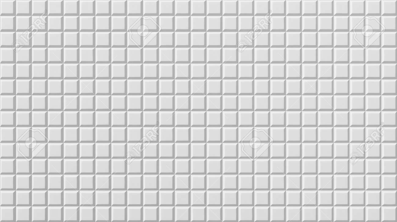 White Tile Flooring Seamless Texture Background 3d Illustration