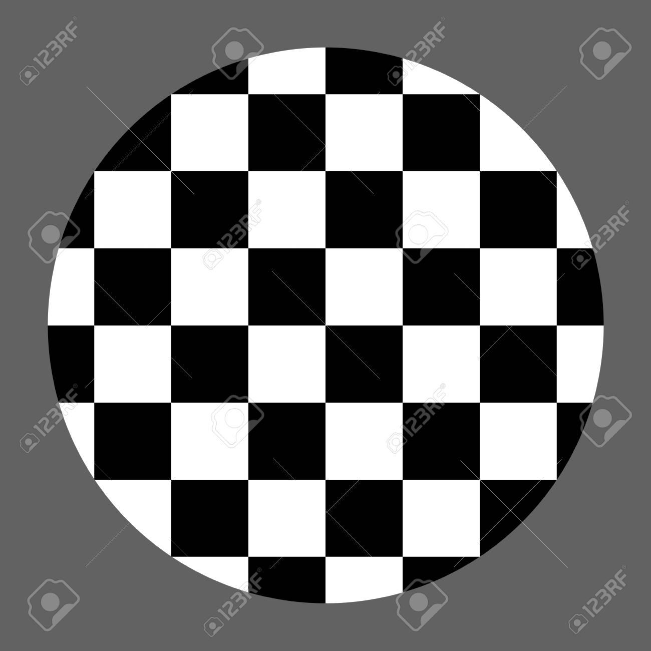 Checkered Abstract Wallpaper Black And White Circle Illusion