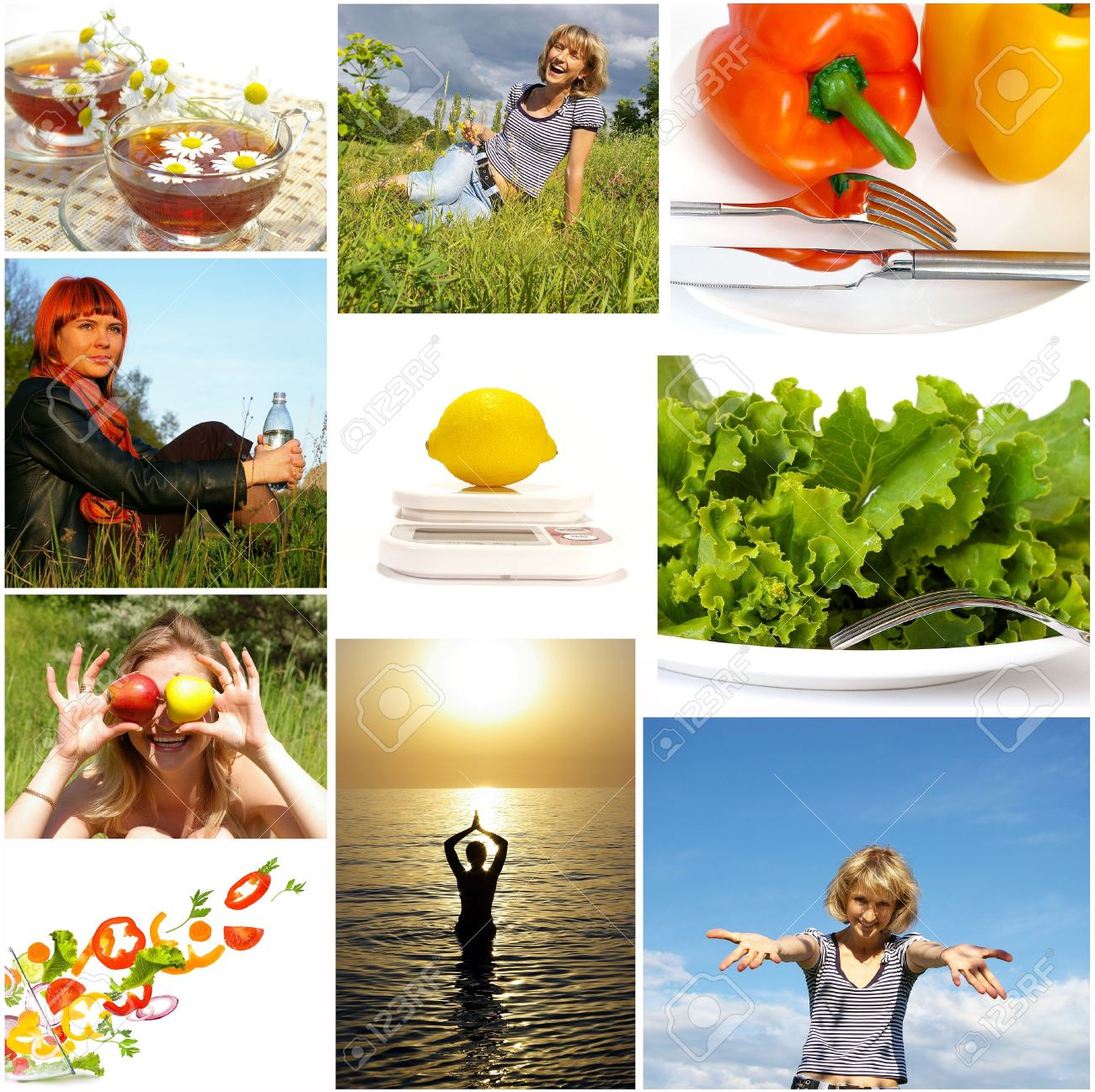 Healthy lifestyle. Healthy nutrition and fitness concept Stock Photo - 3968480