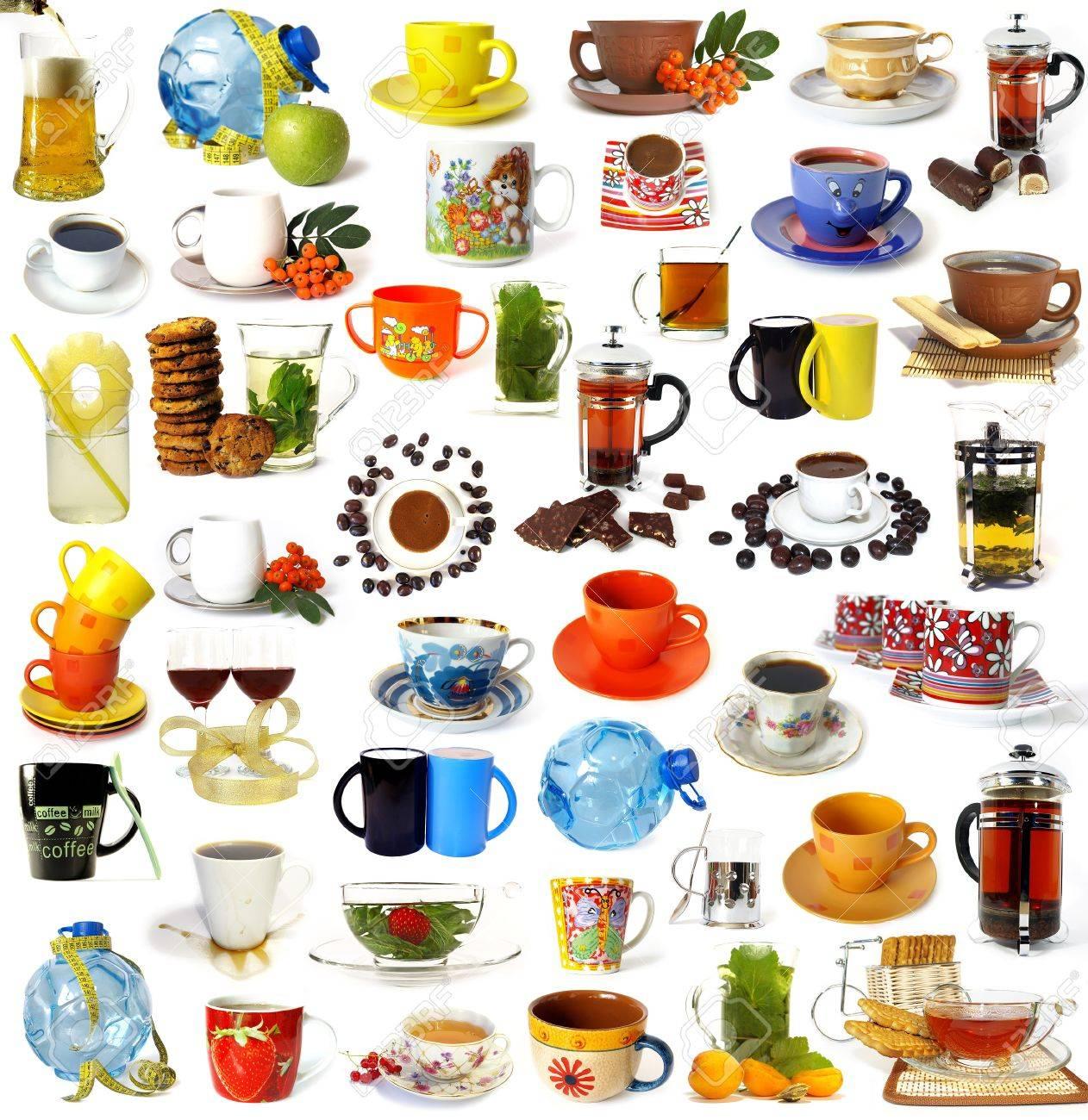 Big set of drinks isolated on white background Stock Photo - 4127512