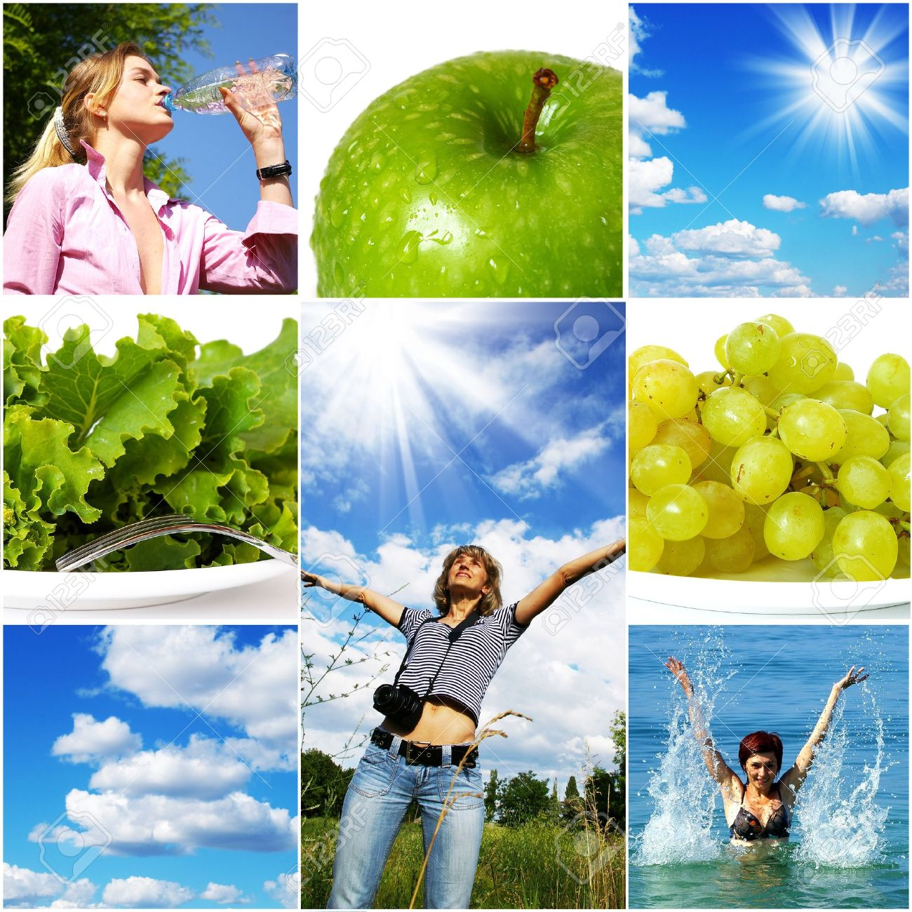 Healthy lifestyle concept. Diet and fitness Stock Photo - 4362366