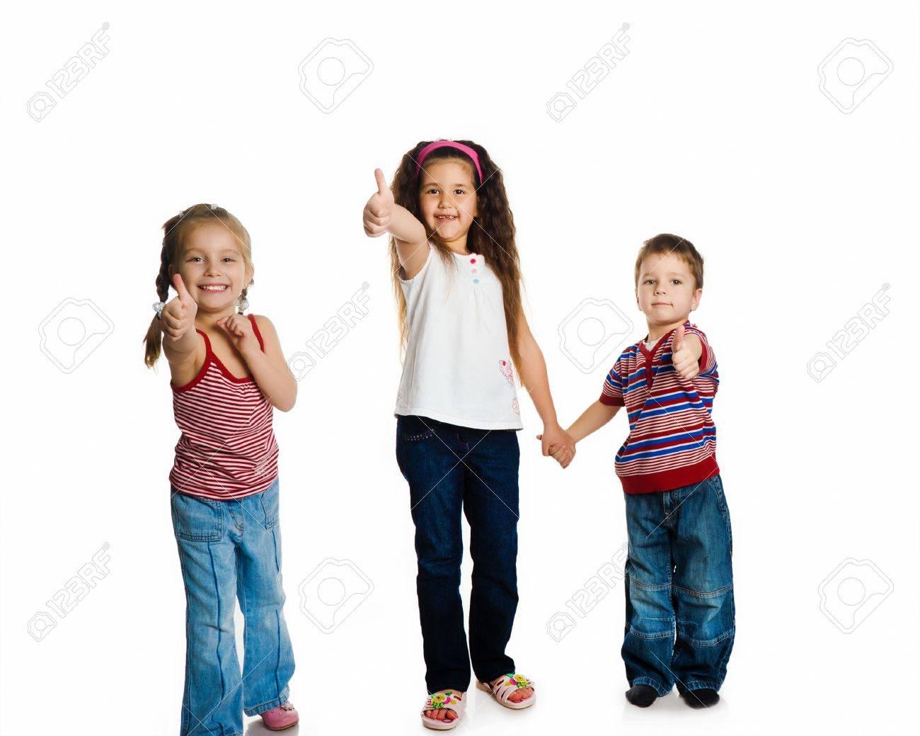 Grouop of smily kids Stock Photo - 9372121