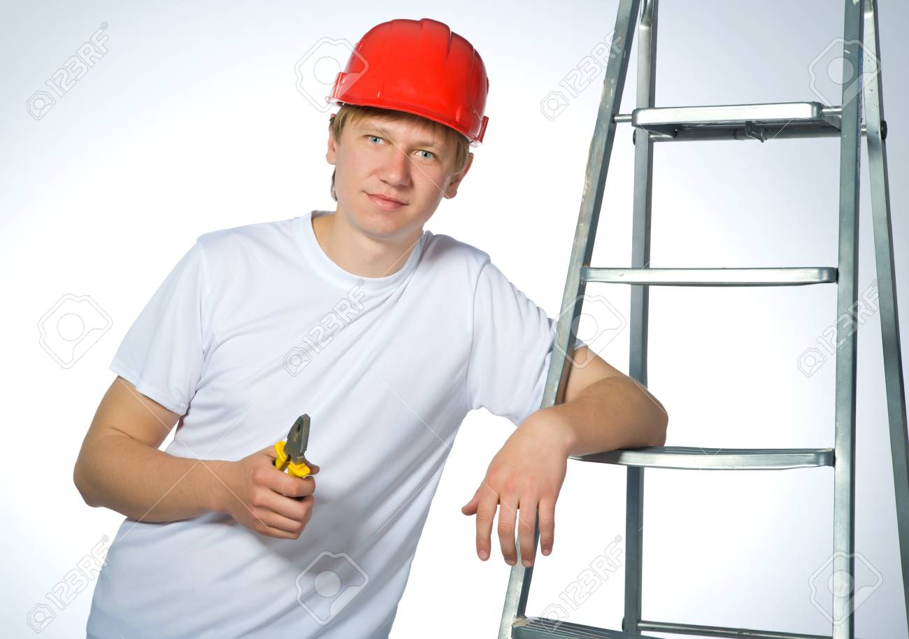 portrait of a builder Stock Photo - 9716086