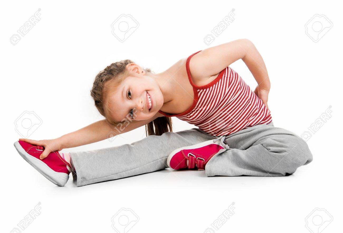 girl gymnast on a white background Stock Photo - 13285303