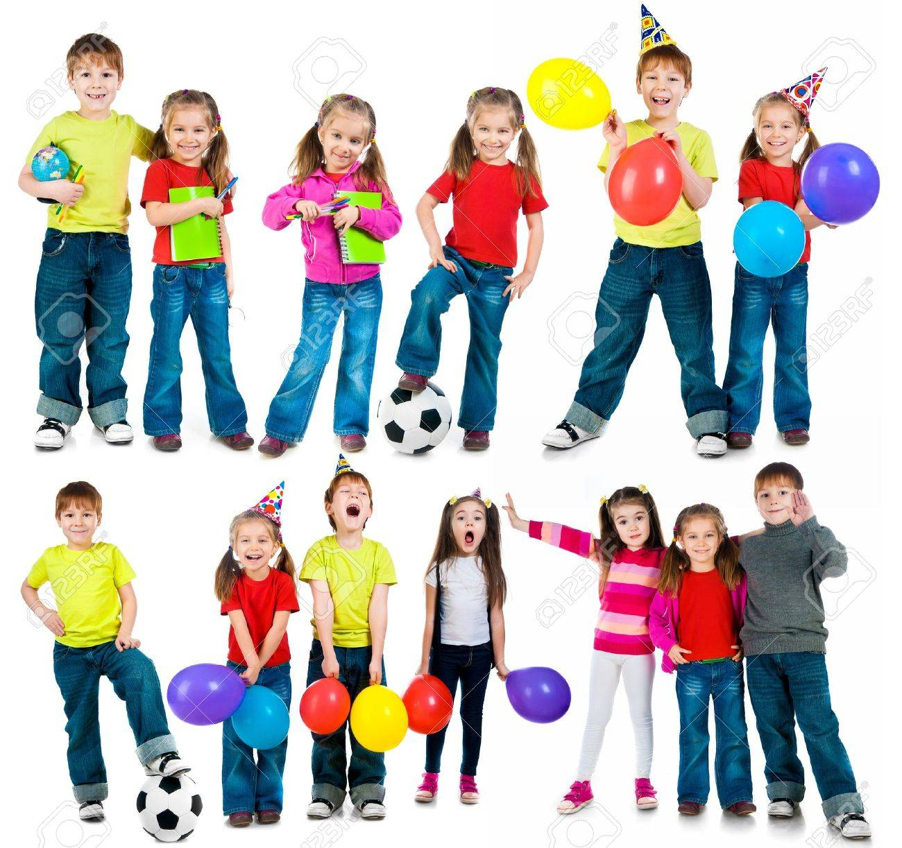 happy kids on a white background  set Stock Photo - 20663094
