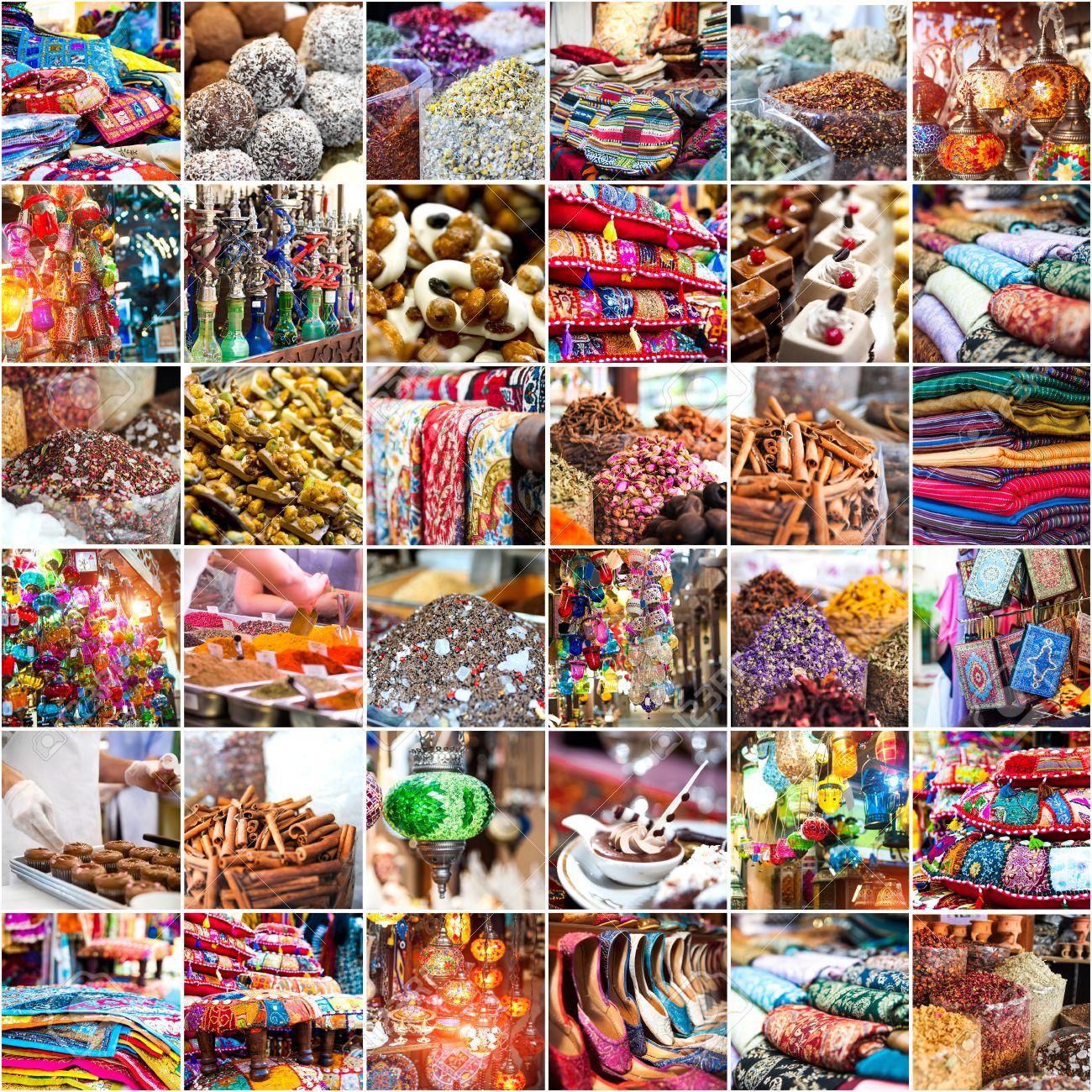 collage photo merchandise in the Arab market - 33880626